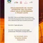 Locandina di presentazione dell'evento di inaugurazione del nuovo ascensore.