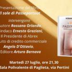 """locandina di presentazione del libro """"Il sole di Passepartout"""""""